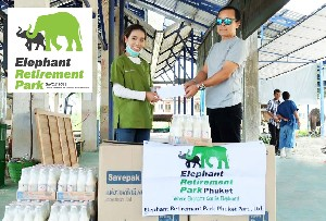 Elephant Retirement Park donated to Southern Elephant Hospital (krabi).